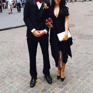 Alice+Olivia high low black formal dress